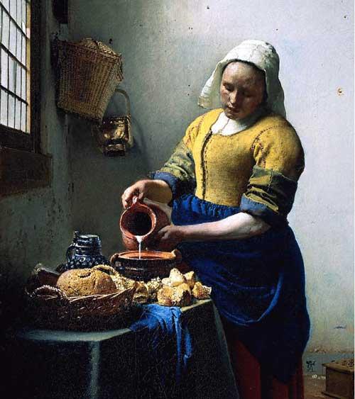 >>>El dia a dia de ayer y de hoy en la pintura>>> Jan-vermeer_milkmaid_f1