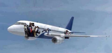 Primer avión que sale de Cuba después de aprobada la Reforma Migratoria.Gracias Elsa M. Rodriguez