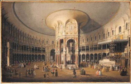 """London: Interior of the Rotunda at Ranelagh."""