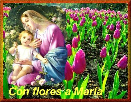Resultado de imagen para flores a maria
