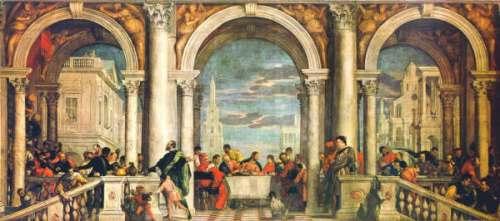 Banquete en Casa de Leví, El Veronés (1573)