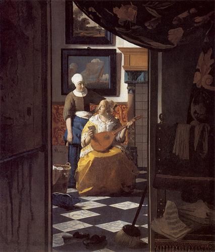 Autor Johannes Vermeer, h. 1669-1670  Técnica Óleo sobre lienzo  Estilo Barroco  Tamaño 44 cm × 38,5 cm  Localización Rijksmuseum, Ámsterdam, Flag of the Netherlands.svg Países Bajos