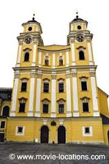 The Sound of Music filming location: Maria's wedding: Mondsee Cathedral, Mondsee, Austria