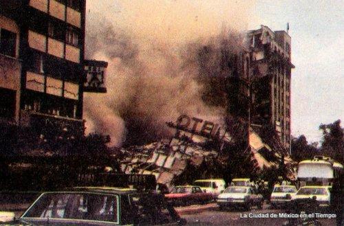 Esta impactante vista de Avenida Juárez, fue una de las primeras imágenes que dieron cuenta del desastre. Una escena imborrable.