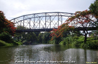 El puente El Triunfo, en la ciudad cubana de Sagua la Grande