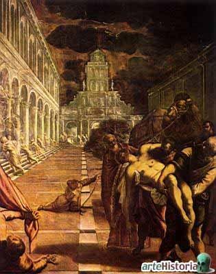 Traslado del cuerpo de San marcos